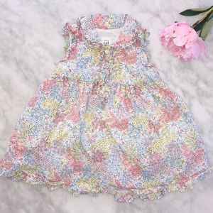 BABY GAP GIRL FLORAL DRESS 6-12 MONTHS